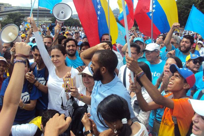 Foto: Notimex. Opositores al gobierno venezolano se han manifestado en contra de Nicolás Maduro.