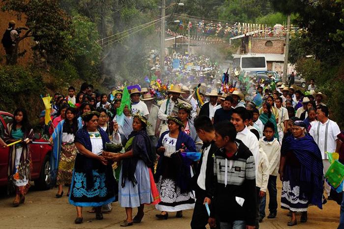 Foto: Cortesía. Actividades del fuego nuevo Purépecha.