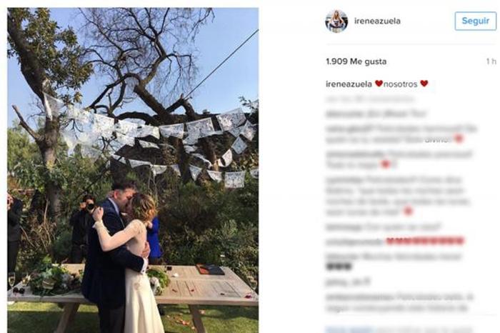 Foto: El Universal. Irene Azuela comparte foto de su boda.