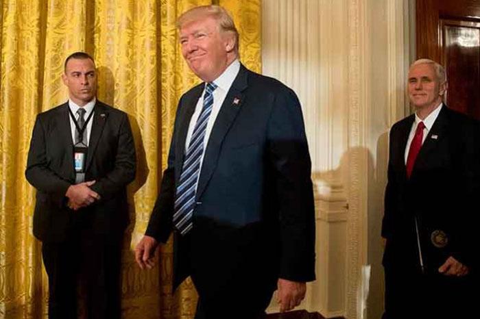 """Foto: AP. Creo que vamos a tener muy buenos resultados para """"Estados Unidos y para todos los involucrados"""", indicó Trump."""
