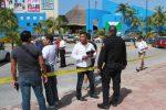 """Foto: Enfoque Noticias. En las inmediaciones de la Fiscalía se registró la balacera; se presume que por intentar liberar a """"Doña Lety""""."""