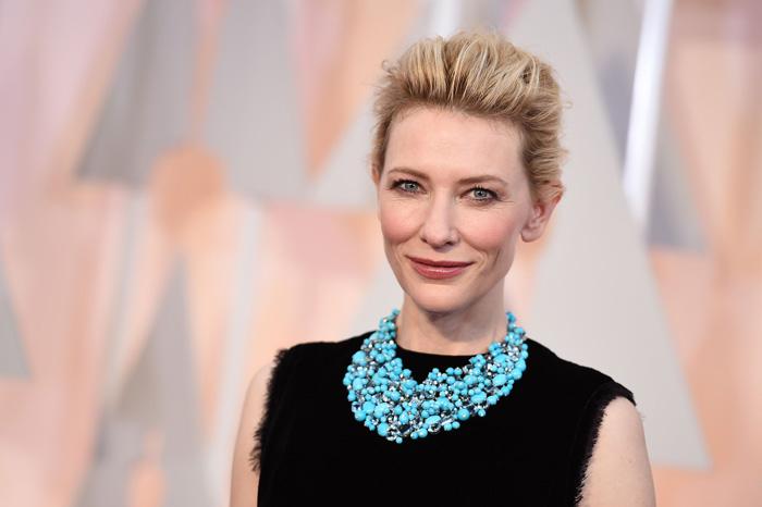 Foto: AP. Blanchett no perdió oportunidad de mostrar su visión política.