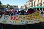 Foto: Christian Mallarini. La Coordinadora Nacional de Trabajadores de la Educación (CNTE).