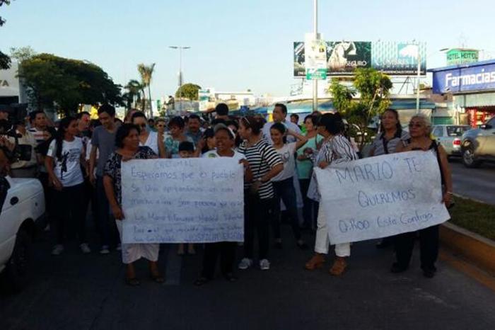 Foto: El Universal. La marcha fue organizada por la hija del exgobernador de Quintana Roo.