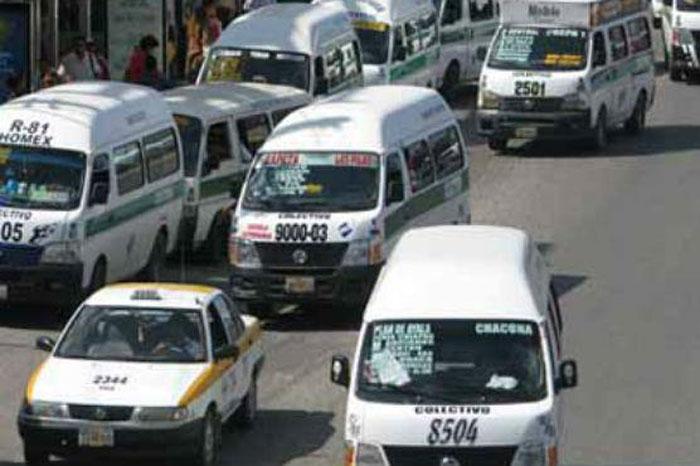 Foto: Internet. Paro parcial de transportistas en Chiapas.