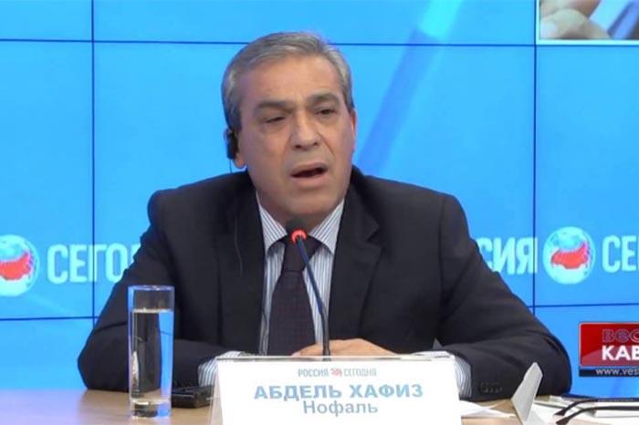 Foto: Agencias. Abdel Hafiz Nofal, embajador palestino en Rusia.