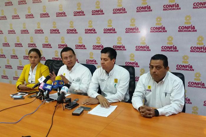 Foto: Carlos Gaona. Políticos que promueven a figuras de otros partidos deben renunciar: PRD
