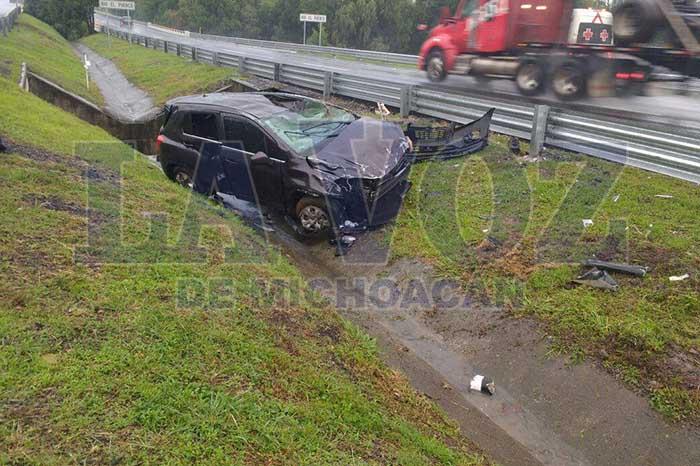 MARAVATÍO Se registra segundo accidente consecutivo en la Atlacomulco-Maravatío (2)
