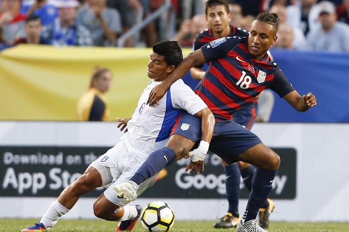 Foto. AP. Nicaragua y Estados Unidos se enfrentaron este sábado en la Copa Oro.