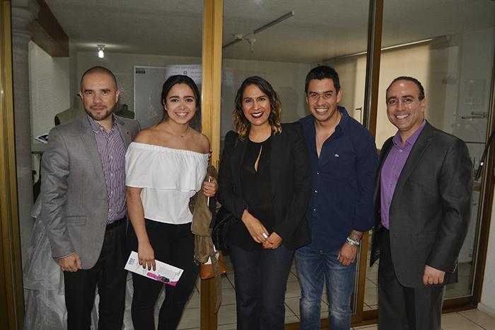 Foto: Gerardo Diosdado. Hugo Jaramillo, Mariana Huato, Tañía Ruiz, Carlos López, Alejandro Ortiz.