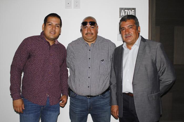Daniel Morón, Ramón Valtierra y Raúl Morón