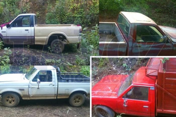 PUREPERO Asegura SSP nueve vehículos robados en predio de Purépero (8)