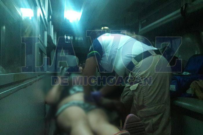 ZAMORA2 Policía queda lesionada en accidente de moto (2)