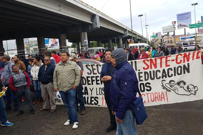 CNTE colapsa tráfico en Morelia