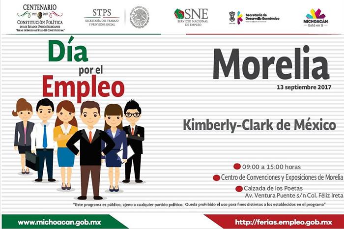 Ofertará SNE Michoacán 122 vacantes de la empresa Kimberly Clark