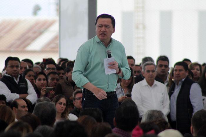 TITULARES DE SEDATU SEGOB Y EL GOBERNADOR DE PUEBLA ENCABEZAN EV