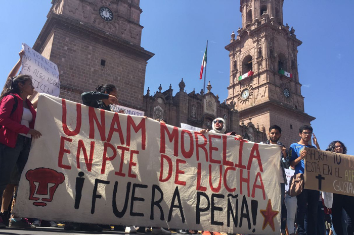 Estudiantes de la UNAM piden justicia por compañero asesinado (video)