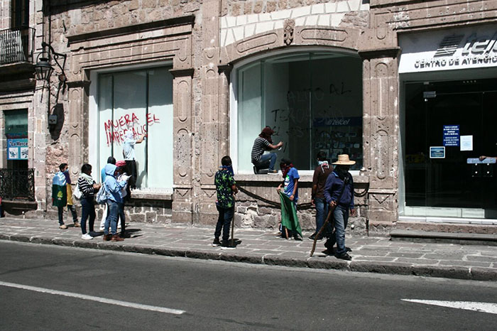 CNTE y frentes socialistas desquician Morelia
