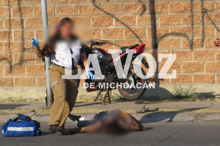 ZAMORA Se accidenta hombre en moto robada (2)