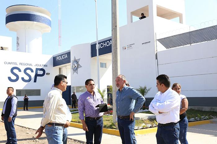 Supervisan avances del Complejo Administrativo y Policial en Jiquilpan