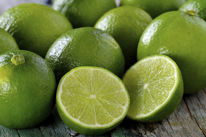 lime on wooden table
