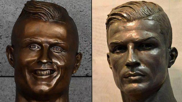 Mejoran escultura de Cristiano Ronaldo