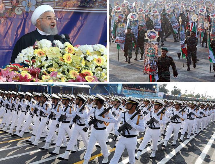Irán exhibe poderío militar en desfile