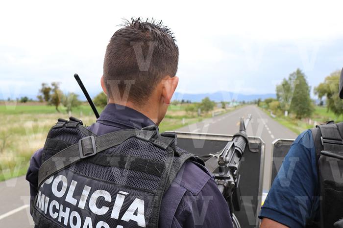 limpieza en michoacan con policias