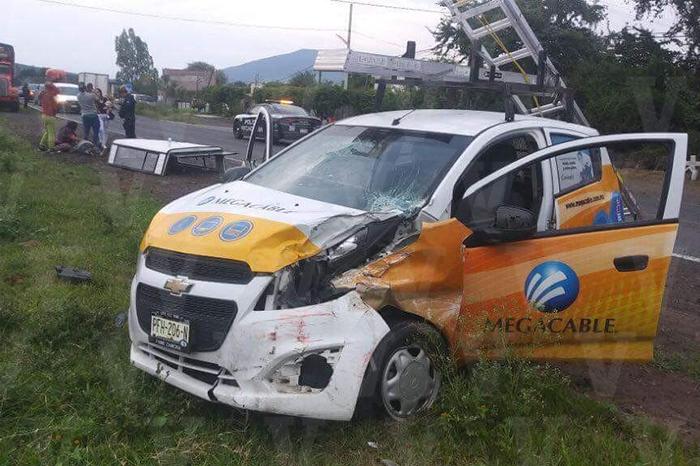 IXTLÁN DE LOS HERVORES 5 lesionados deja fuerte choque en Ixtlán