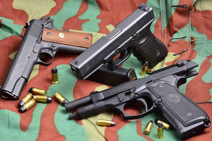 Beretta-92-Colt-1911-Glock-17