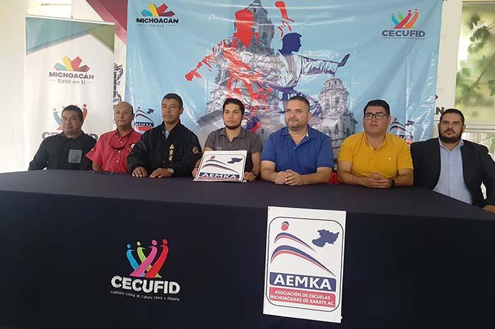 La Comisión Estatal de Cultura Física y Deporte (Cecufid), en conjunto con la Asociación de Escuelas Michoacanas de Karate A.C., anunciaron el Primer Abierto Estatal de Karate 2018