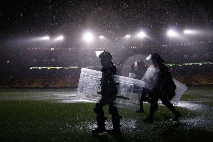 Partido suspendido por fuertes lluvias