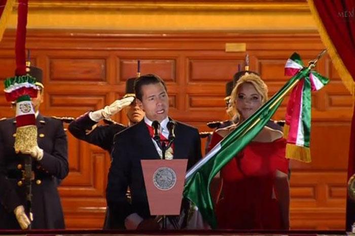 Peña Nieto da su último grito de su gobierno