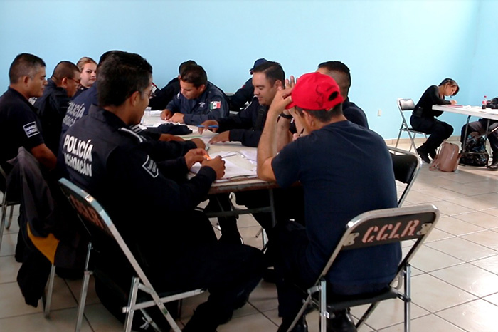 El próximo viernes concluirá la capacitación a elementos policiales de tres municipios de la entidad.