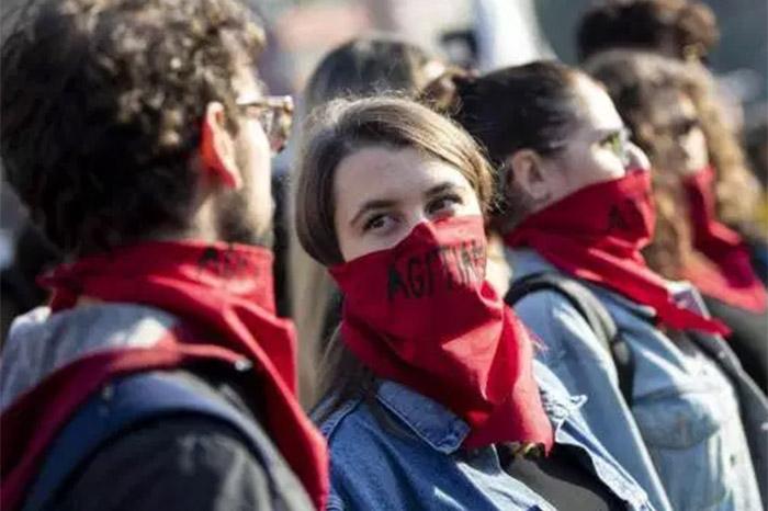 protesta italia estudiantes