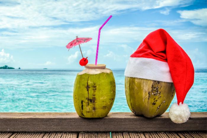 navidad en playa