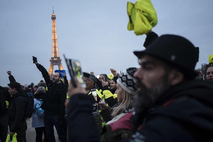 Chalecos amarillos en novena semana de protestas en Francia