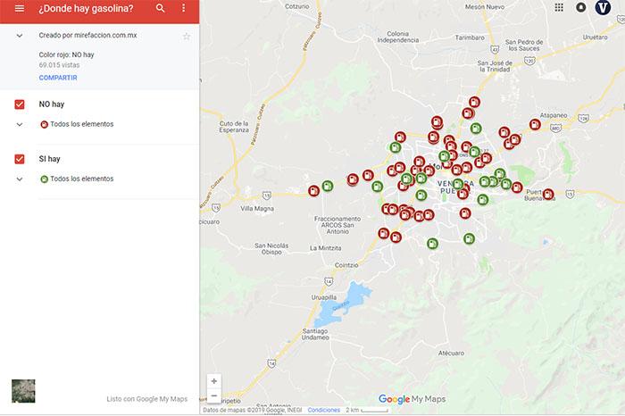 Desabasto de gasolina en CDMX ya puede ser localizado con Google Maps