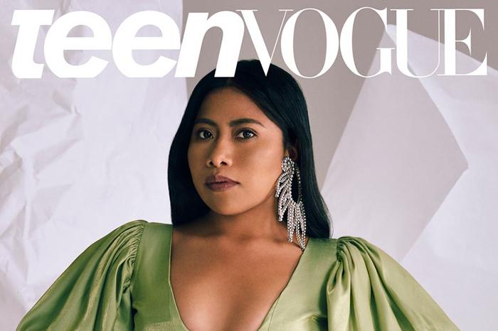 Yalitza Aparicio deslumbra en portada de revista 'Teen Vogue'