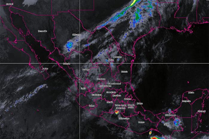 Hoy se pronostican tormentas intensas para Chiapas y muy fuertes para Oaxaca