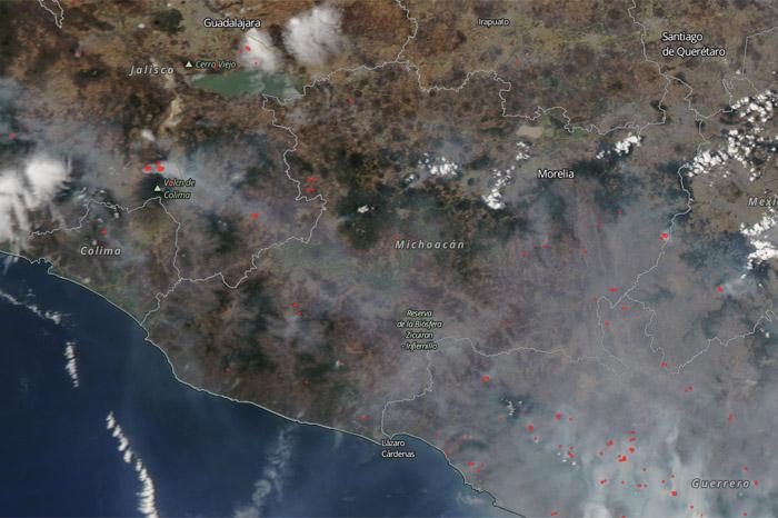 incendios mapa nasa