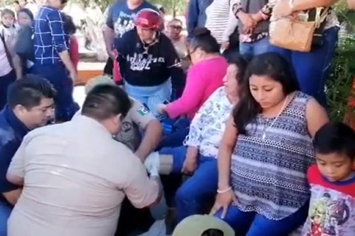 Se Desploman Gradas Durante Desfile De La Revolución En Yucatán
