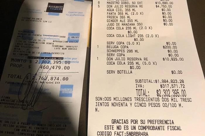 NBA paga cuenta de dos millones de pesos en restaurante de Polanco