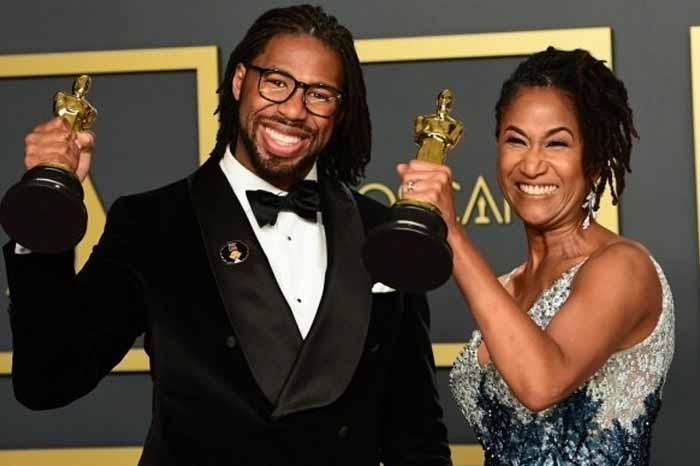 Resultado de imagen de Mejor cortometraje animado - Hair Love, escrito, producido y dirigido por Matthew A. Cherry, quien dedicó el galardón al fallecido Kobe Bryant