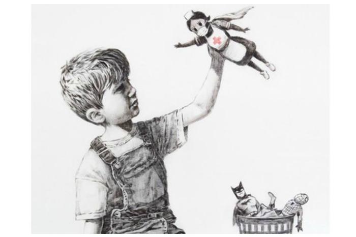 La obra de Banksy que luce en el hospital de Southampton