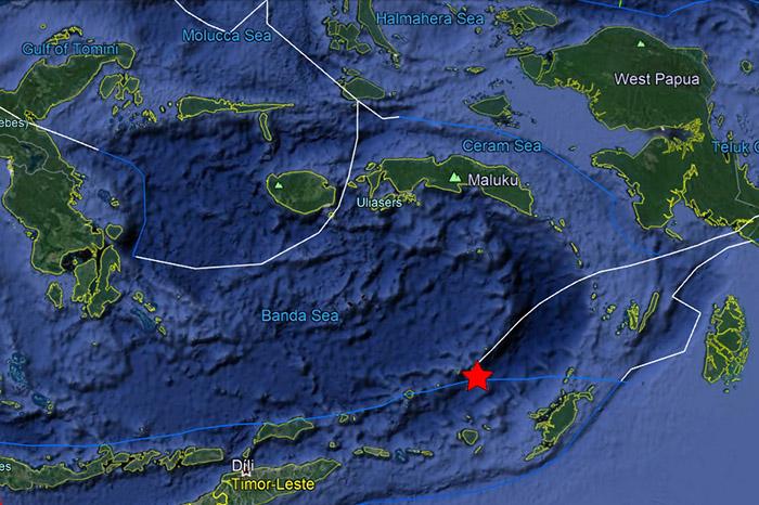 Un terremoto de magnitud 6,8 sacude el mar de Banda en Indonesia