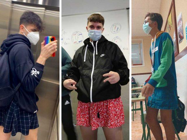 VIDEOS   'Con la falda bien puesta' muchos alumnos acuden a sus escuelas en España