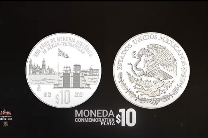 De 20 y 10 pesos, bimetálicas y de plata, entran en circulación monedas  conmemorativas de México
